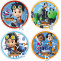 Wafer paper disc Rusty Rivets, 21 cm
