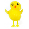 Small yellow chenille chicks, 6 pieces