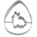 Cookie cutter Egg with rabbit, 7 cm