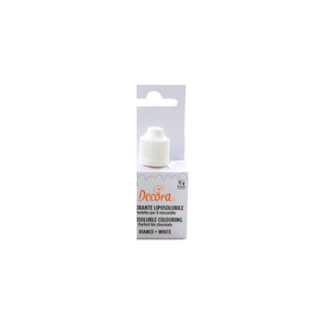 Decora - fat-soluble edible color white, 15 g