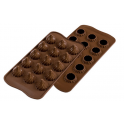 Silikomart - Moule Choco Flame, 22 x 22 mm, 15 cavités