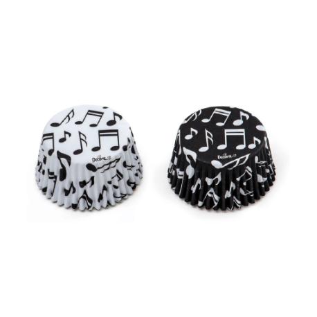 Caissettes à cupcakes notes de musique, 36 pièces