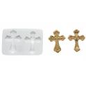 Silikomart - Moule en silicone croix, 2 cavités