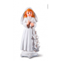 Communion girl with candle topper
