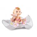 Figurine bébé fille doudou & froufrou