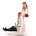 Dekora - Wedding cake topper drunk couple