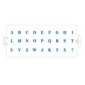 Decora - Schablonene für Kuchen Buchstaben