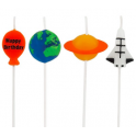 Candle Set Space & planets, set of 4