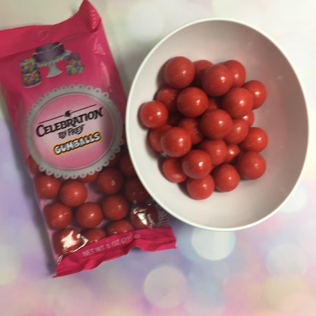 Celebration - Pearls red gumball,  approx.. 2 cm, 227 g