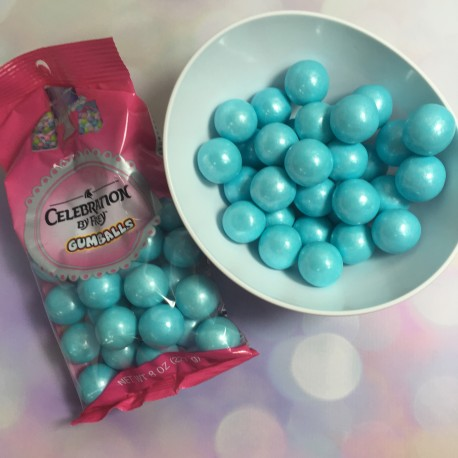 Celebration - Pearls shimmer blue gumball,  approx.. 2 cm, 227 g