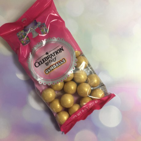 Celebration - Pearls shimmer gold gumball,  approx.. 2 cm, 227 g