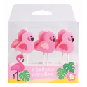 Candle Set flamingos, set of 6