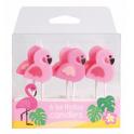 Candle Set flamingos, set of 6