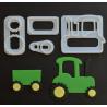 FMM - Traktor Ausstechform, 4 Stück