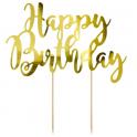 Décoration Happy Birthday carton doré