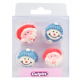Culpitt Icing Decorations Santa & Snowman, 12 pieces