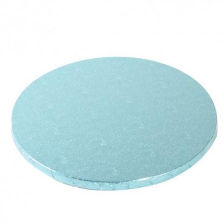 Planche bleu clair ronde, dia. 25 cm, épaisseur 1,2 cm