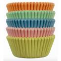 Caissettes mini cupcakes pastel, 100 pièces