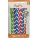 Decora - Pailles mix de couleurs, 80 pièces