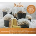 Decora - Big food safe plastic bags (panettone/pandoro/colomba), 5 pieces
