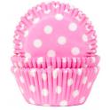 Caissettes à cupcakes rose à pois, 50 pièces