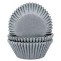 Baking Cups white grey, 50 pieces