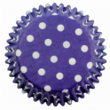 Baking Cups white polka on blue, 60 pieces