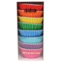 Caissettes à cupcakes couleurs vives, 100 pièces