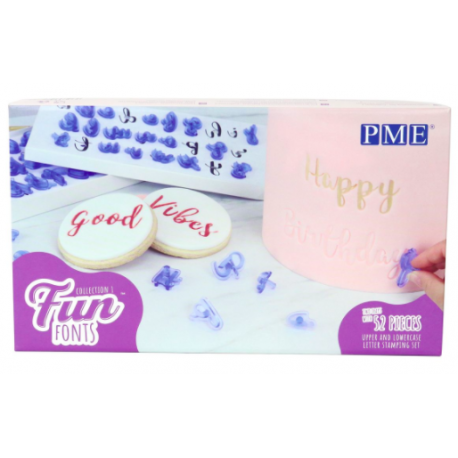 PME Fun Fonts Alphabet Embossing Set baking Christmas Gift