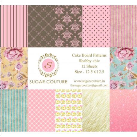 'Shabby Chic' Contact Paper - Book of 12