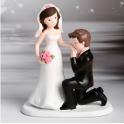 Modecor - Wedding cake topper, kneeling man