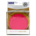 Baking Cups peach with gold trim, 30 pieces