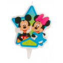 Bougie Mickey & Minnie, 7.5 cm