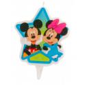 Bougie Mickey & Minnie, 7.5 cm