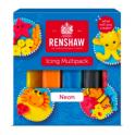 Renshaw - pâte à sucre couleurs néons, 5x100 g