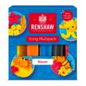 Renshaw - Sugar paste color multipack neons, 5x 100g