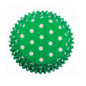 Baking Cups white polka on green, 60 pieces