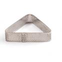 Decora - Tart shape perforated triangle, 16 x 14 x 2 H CM