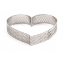 Decora - Tart shape perforated heart, 18 x 16 x 3.5 H CM