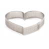 Decora - Tart shape perforated heart, 18 x 16 x 3.5 H CM