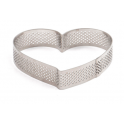 Decora - Tart shape perforated heart, 10 x 9 x 2 H CM