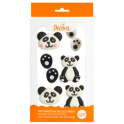 Decora Décorations en sucre panda, 6 pièces