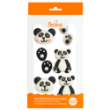 Decora Sugar decoration Panda, 6 pieces
