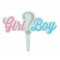 "Culpitt ""Girl ? Boy"" cake topper, 1 piece"