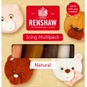 Renshaw - pâte à sucre couleurs peau, 5x100 g