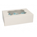 Funcakes - Cupcake Box white, Standard, 6-cavity with inserts, 3 pieces