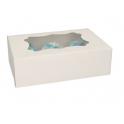 Funcakes - Cupcake Schachtel Weiss, für 6 Stück mit Einleger, 3 Stück