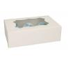 Funcakes - Boîte à cupcakes blanche, 6 cupcakes, 3 pièces