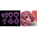 Decora - Emporte-pièce pivoine fleur, set de 7