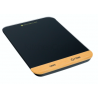 Kitchen Scales - MasterClass Electronic Duo Platform Scales, black & bamboo